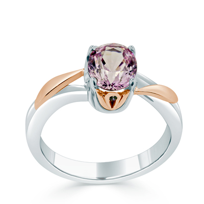 Spinel Dress Ring in 18ct White Gold - Platinum / Palladium and 18ct Rose Gold