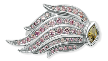 Pink Argyle Diamond Dress Ring