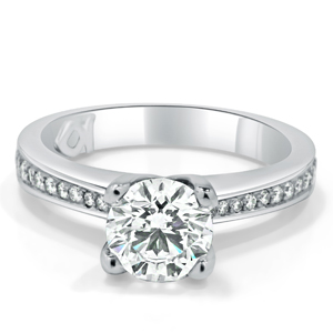 4 Claw Round Brilliant Cut Diamond Engagement Ring