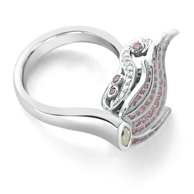 Bespoke Designer Argyle Diamond Ring for Sale